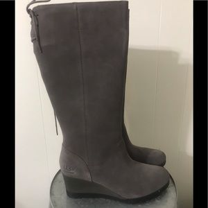 UGG Gray Tall Leather Boot